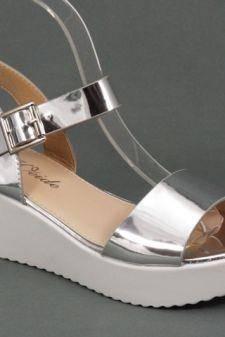 Sandale dama argintii Loly
