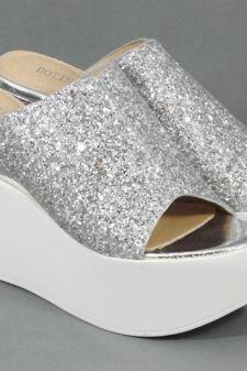 Sandale dama argintii Maya