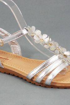 Sandale dama argintii Nico