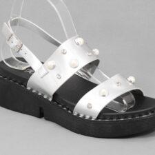 Sandale dama argintii Nostra