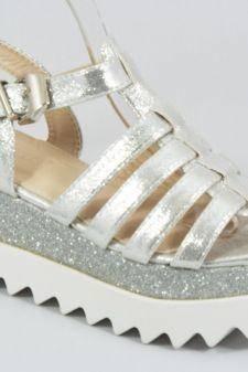 Sandale dama argintii Tyna