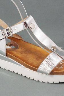 Sandale dama argintii Valena