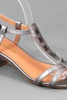 Sandale dama argintiu inchis Karla