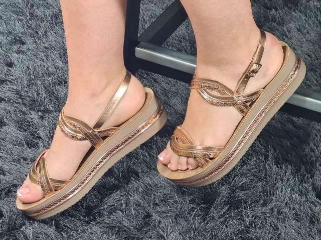 Sandale dama aurii Delia