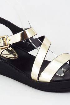 Sandale dama aurii Elba
