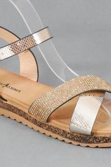 Sandale dama aurii Elvira