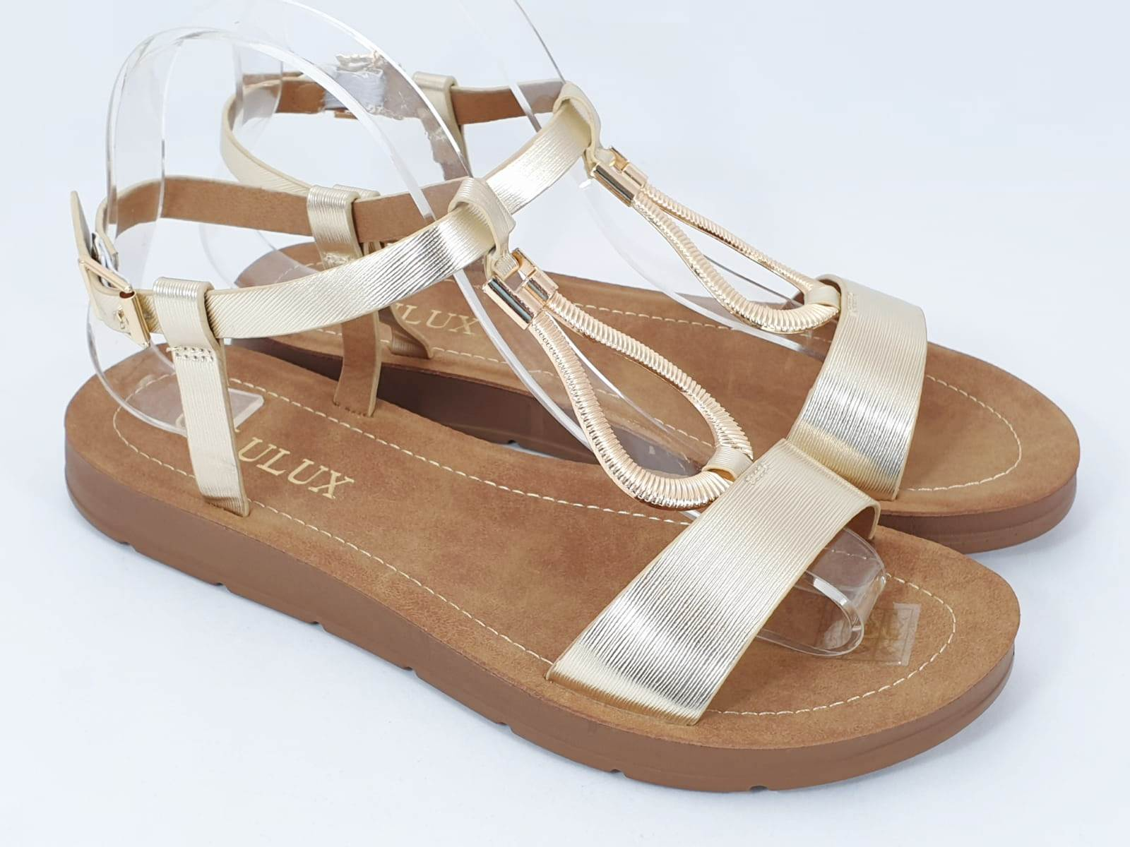 Sandale dama aurii Flores