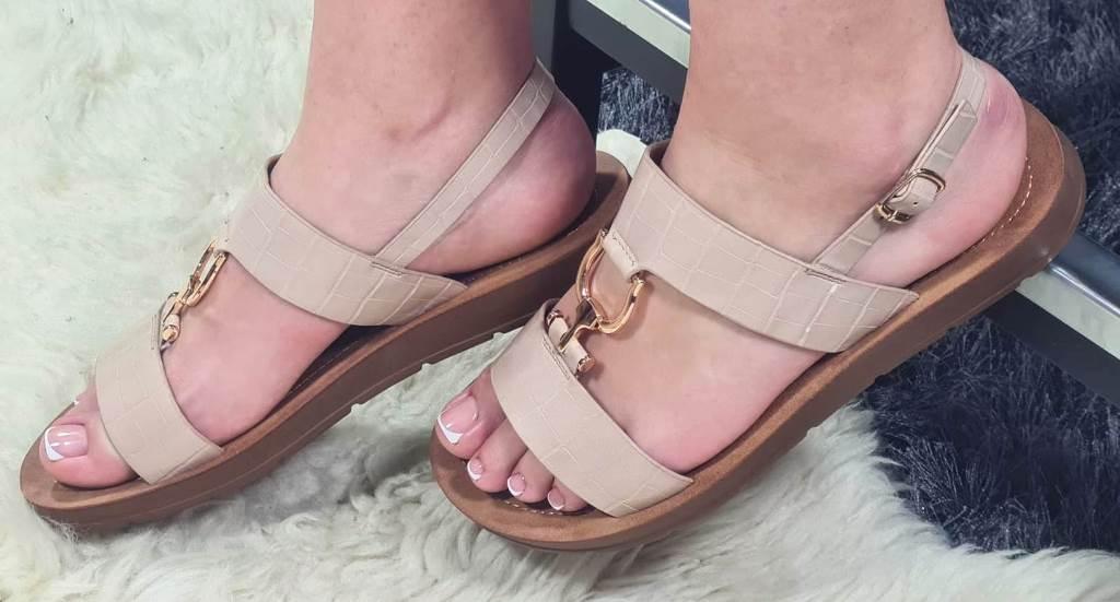 Sandale dama bej Cara