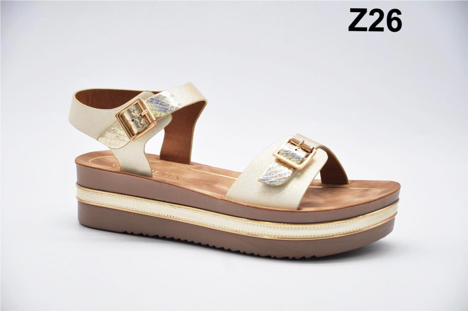 Sandale dama bej cu auriu Monica2