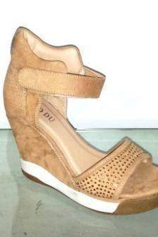 Sandale dama bej cu platforma