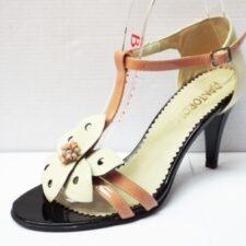 Sandale dama bej din piele naturala