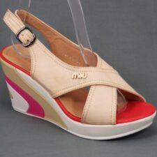 Sandale dama bej ortopedice toc 8 cm Glorya