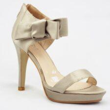 Sandale dama bej satinat
