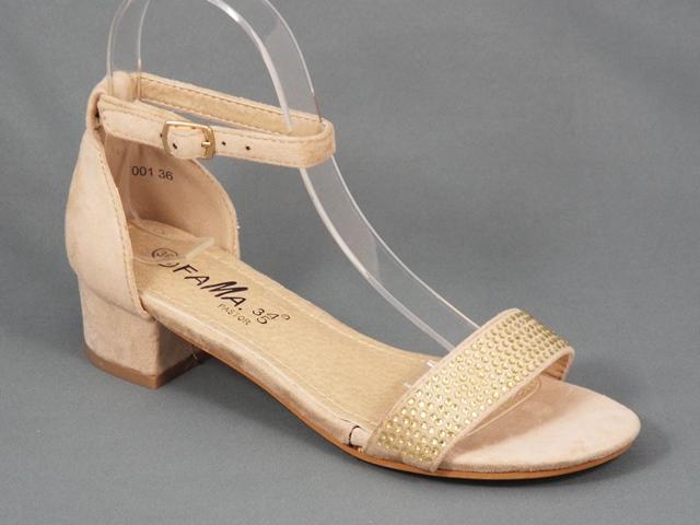 Sandale dama bej toc 3