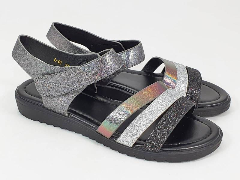 Sandale dama bronz argintii Alina
