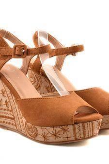 Sandale dama camel ortopedice toc 11