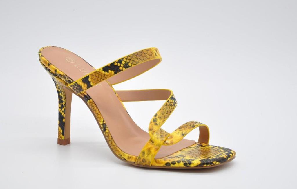 Sandale dama galben pastel Doina