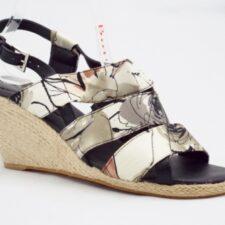 Sandale dama gri cu negru