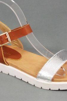 Sandale dama maro cu argintiu Olina