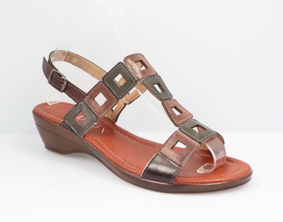 Sandale dama maro cu khaki Arina