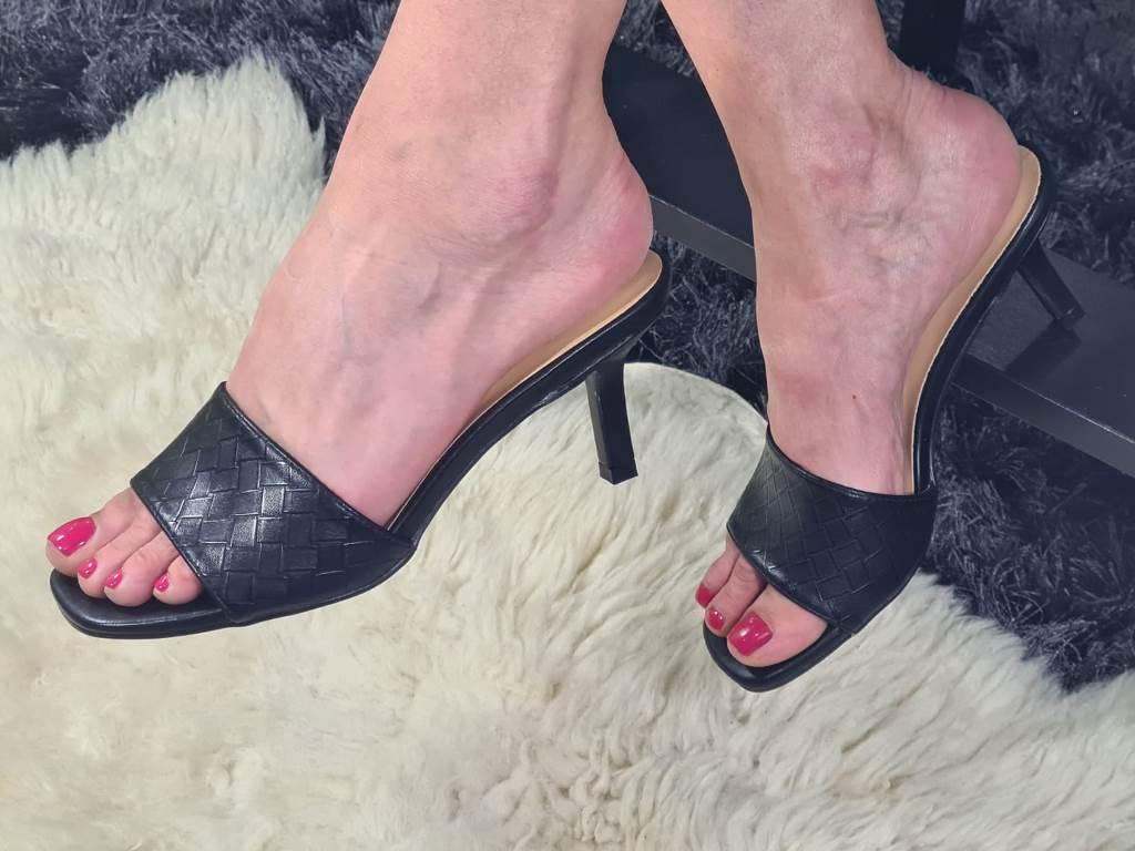 Sandale dama negre Alexa