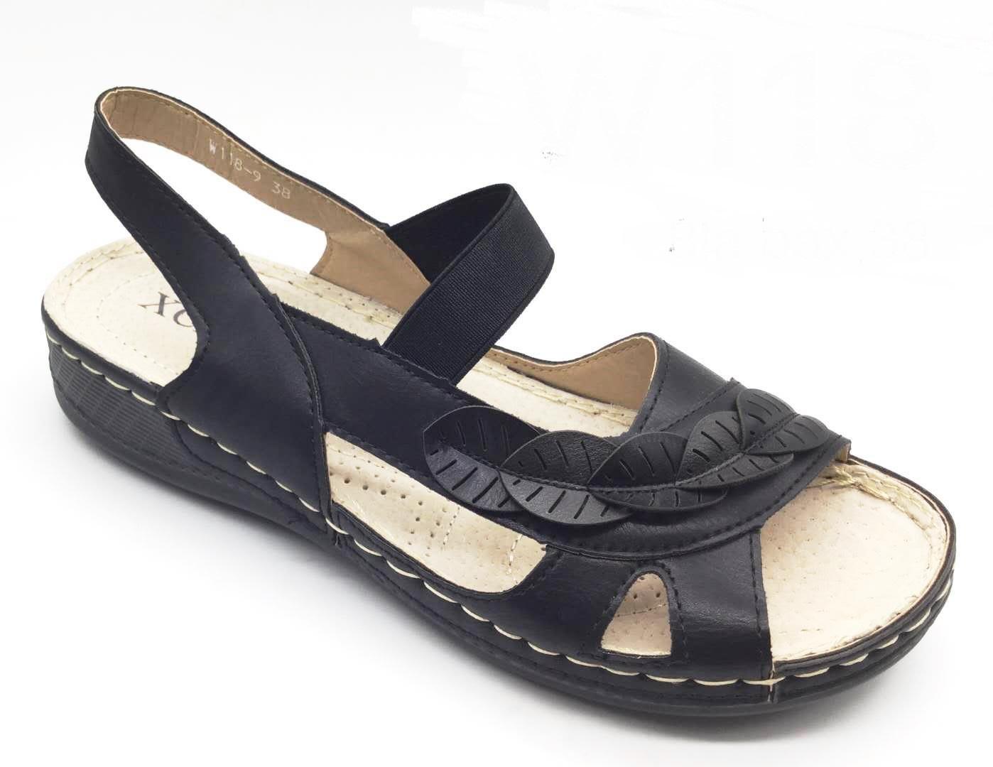 Sandale dama negre Aniela