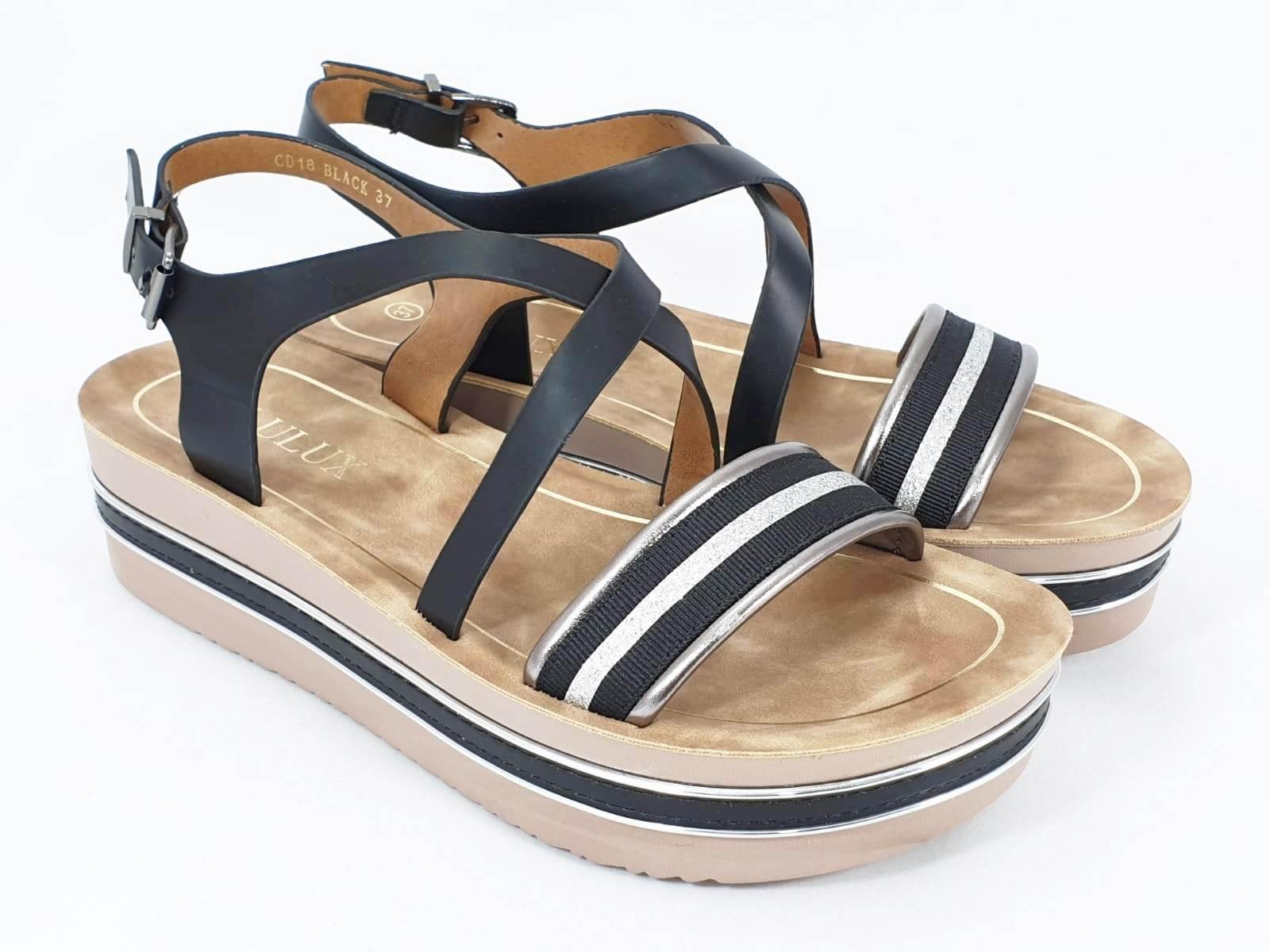 Sandale dama negre Estella