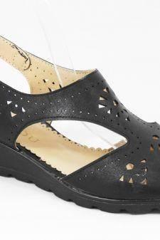 Sandale dama negre Fauda