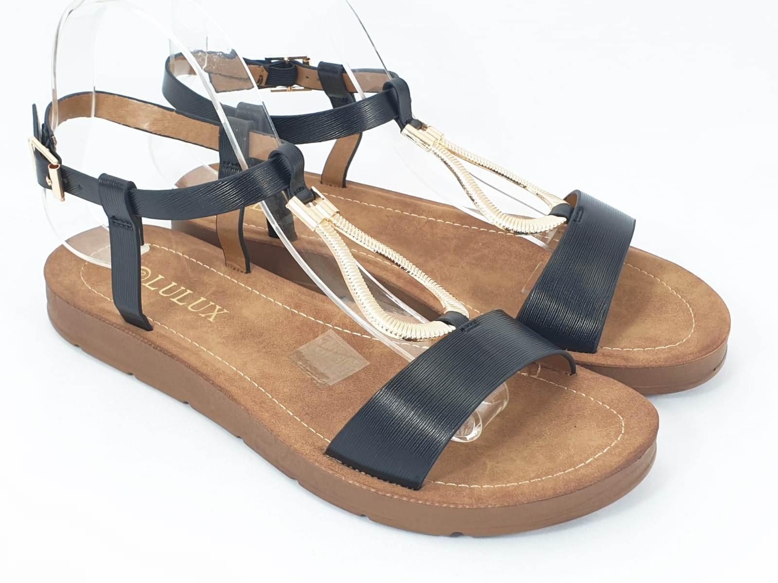 Sandale dama negre Flores