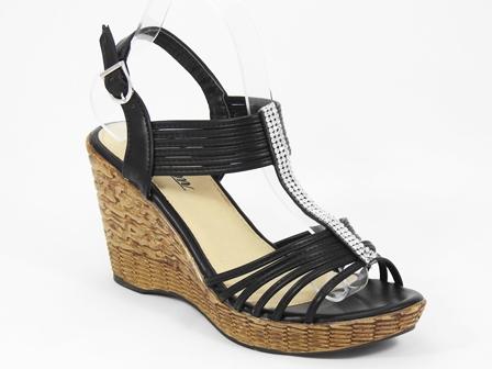 Sandale dama negre Janete