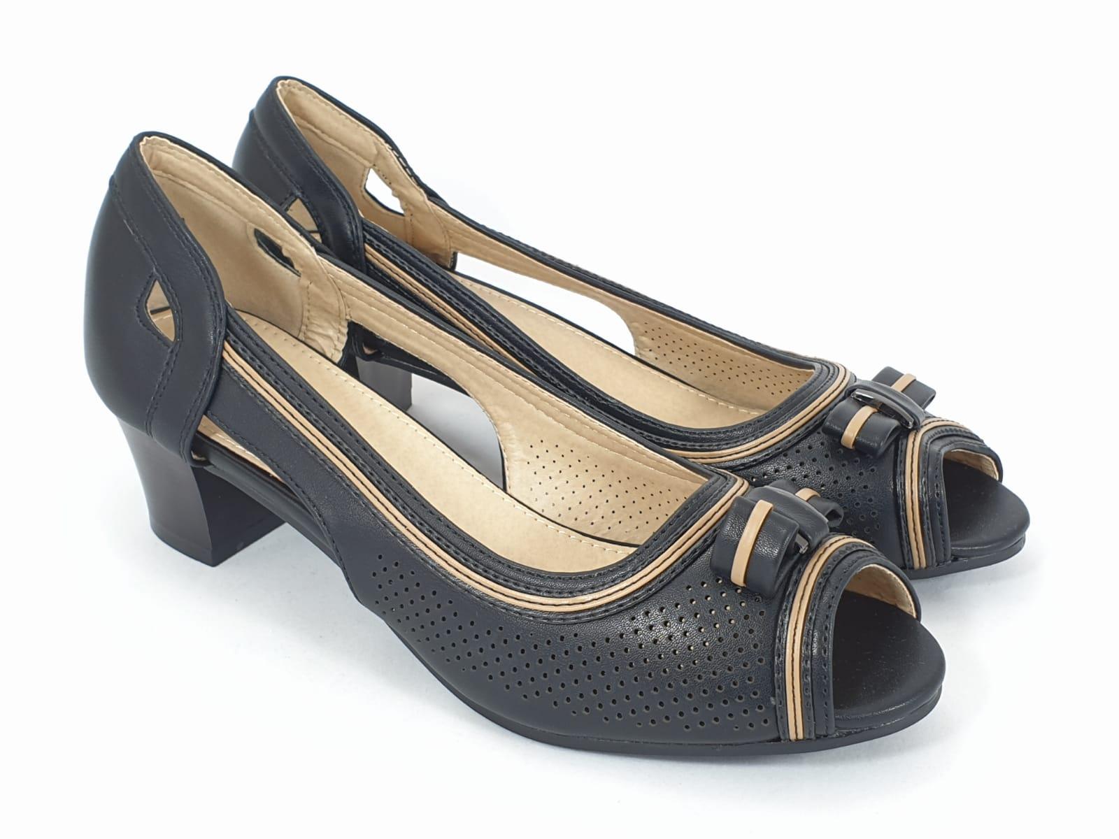 Sandale dama negre Olimpia