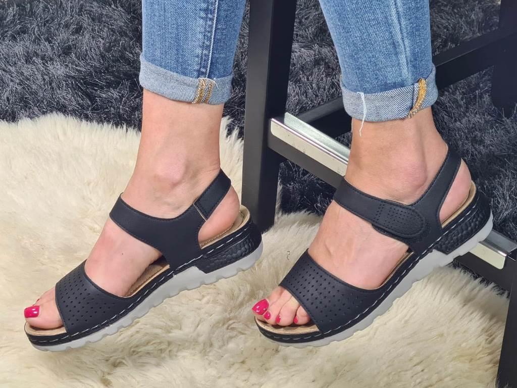 Sandale dama negre Polina