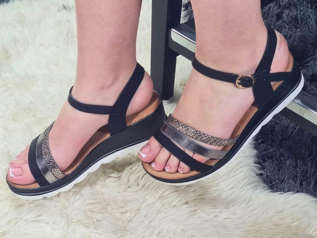 Sandale dama negre Sirina
