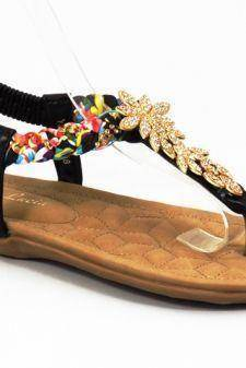 Sandale dama negre Sore