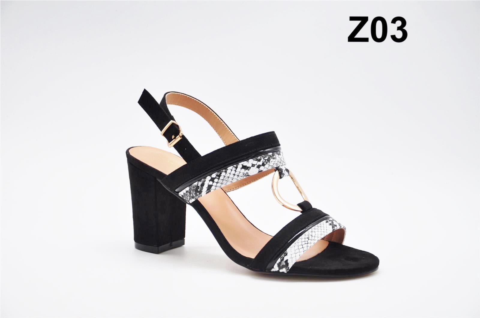 Sandale dama negre croco Katy