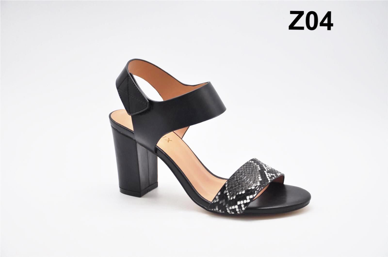 Sandale dama negre croco Nadine