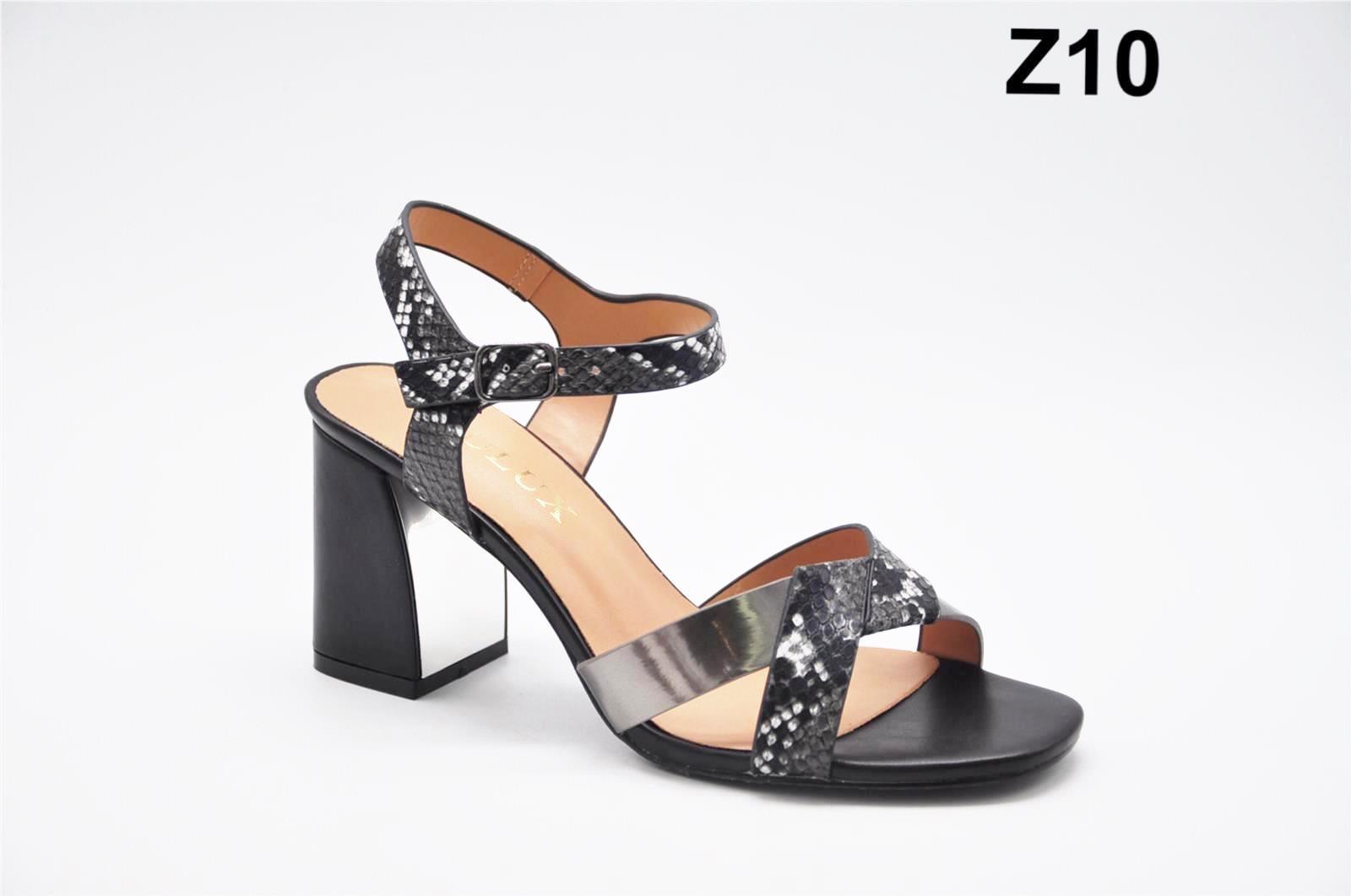 Sandale dama negre croco Zonia