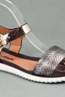 Sandale dama negre cu auriu Zyna
