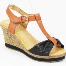 Sandale dama negre cu maro Ilinka