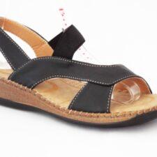 Sandale dama negre cu talpa ortopedica
