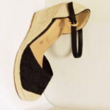 Sandale dama negre din dantela