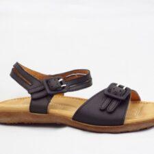 Sandale dama negre din piele naturala cu barete reglabile