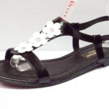 Sandale dama negre din piele naturala