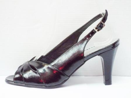 Sandale dama negre din piele naturala cu toc de 8
