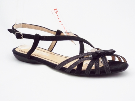Sandale dama negre glitter