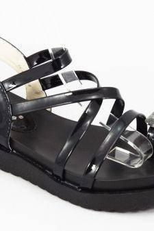 Sandale dama negre lac Ella