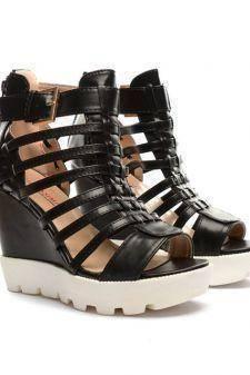 Sandale dama negre ortopedice toc 11 cm Anna