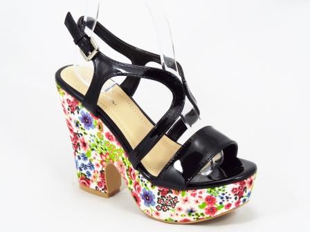 Sandale dama negre ortopedice toc 12 cm Verona