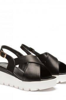 Sandale dama negre ortopedice toc 6