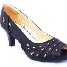 Sandale dama negre perforate